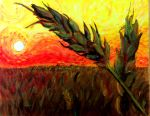 Van Gogh Wheat demo painting by Fire-Redhead