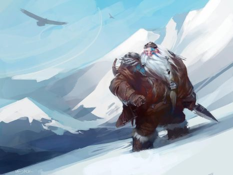 Snowy Slopes by Mr--Jack