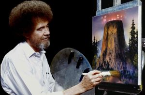 Bob Ross Close ERncounters of the Third Kind by Brandtk