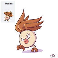 Pokemon Fusion - Manish by cavemonster