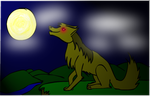 Wolf at Night by Rhym-S