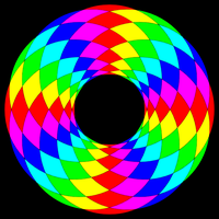 6 color filled 12 circle donut by 10binary