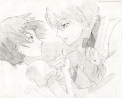 ouran host club-tamaki+haruhi by xFINALFANTASYx