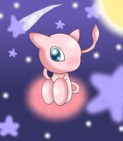 Chibi Mew in the stars by Jirabeam97