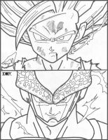 Gohan Ssj2 Vs Super Perfect Cell by cheygipe