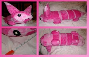 Shiny Furret Plushie or Pillow by saiyamewome