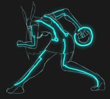 Tron Hare by FreeFlowingFabler