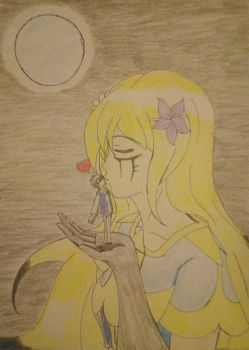 Drawing: A Romantic Moment With A Goddess! by kjl03