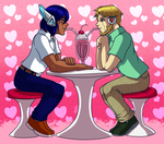 Ben and Joseph sharing milkshake by samusmmx