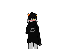 Karkat that sweater's too big for you. by WolfTwine