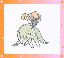 Chibi wolf Link and Midna by KoolGal14
