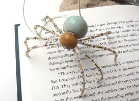 Beautiful Beaded Christmas Spider Ornament by curiouscarrie