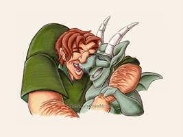 Quasimodo and Hugo by ArtbyMaryC