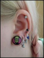 Frankenstein Gauges by BloodStainedBeauty