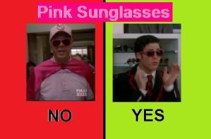 Pink Sunglasses Yes and No by kawaiisweetie-chan