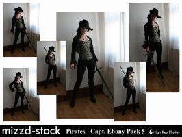 Pirates - Captain Ebony Black Pack 5 by mizzd-stock