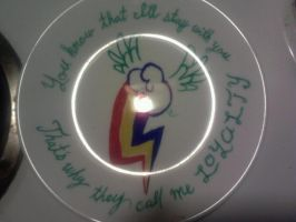 Rainbow Dash plate by thrasherADF