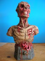 ZOMBIE bust by Mixta110