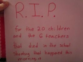 R.I.P fir the people that died today in CT. by Daryl-Dixions-Pancho