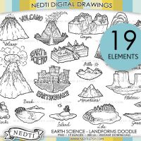 Earth Science Landforms Doodle by Nedti by Nedti