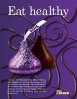 Hershey's Dark Chocolate Kiss Ad (image dominant) by Arekage