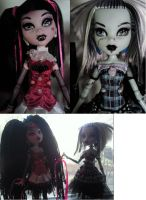 Monster high customised dolls by BloodyRedRidingHood
