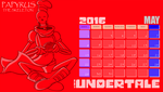 Calendar - Papyrus - May by EliHedgie95