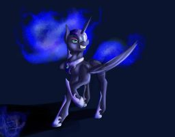 NIghtMare Moon Sketch by Pinkiamena