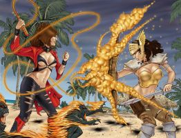 War Goddess 1 Wraparound Cover by MDiPascale