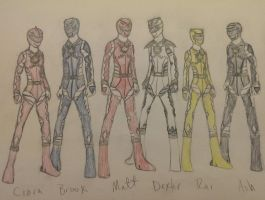 Power Rangers Dino Thunder by MycieRobert