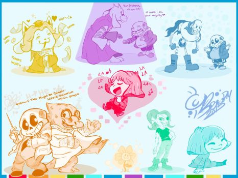 Undertale Rainbow Hued Moments by MaeDBee