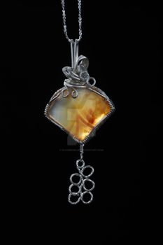 Carnelian Fan Pendant by ClaireKincaid