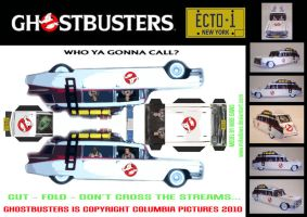 Ghostbusters - Ecto 1 by mikedaws