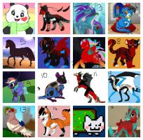16 FREE ADOPTABLES CLOSED by Reptile-Monster