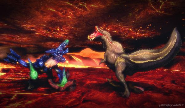 Monster Hunter DXF Bracchidios vs Deviljho by cyevidal10