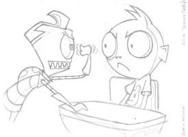 Invader ZIM Obey the Fist by drGrantz