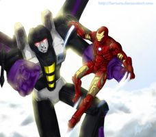 TF:Skywarp n Ironman color by Beriuos