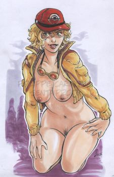 Copic markers Cindy from FFXV by dekarogue
