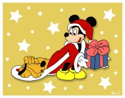 Mickey Mouse at Christmas by Ana-D