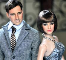 Agent 99 n Maxwell Smart dolls by noeling