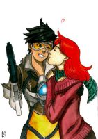 Tracer and Emily by Celtilia