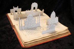 Indian Skyline Book Sculpture by wetcanvas