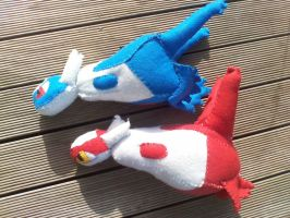 Latias and Latios by mirageant