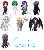 Gaia Online Randomly Created Characters by ZombieGirlHunter
