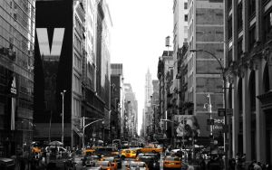 New York Streets Yellow Cabs by Mutulix