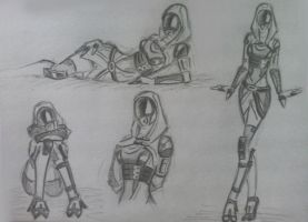 sketches Tali (33) by spaceMAXmarine