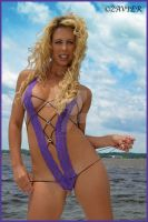 Purple lingerie on the water by clearphoto1