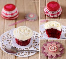 Red velvet cupcake by kupenska