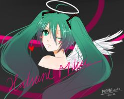 Vocaloid - Hatsune Miku Wink by MoaiArts