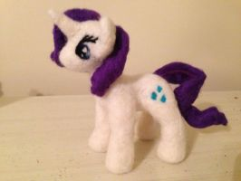 Needle Felted Rarity by the-pink-dragon